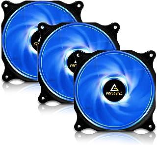 Antec Ventilador de Caja de 120 mm, Ventiladores de PC LED Azul, Ventilador de Caja de computadora para Caja de PC, Conector Molex de 4 Pines, Paquetes F12 Serie 3