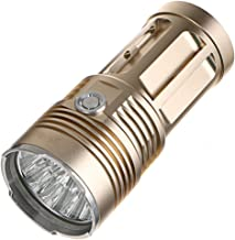 SF34 Krachtige LED-zaklamp Krachtige zaklamp 18650 Zoeklicht Zaklamp Lanterna Hunt Camping Fietslicht, Goud, 13 * T6, Hand...