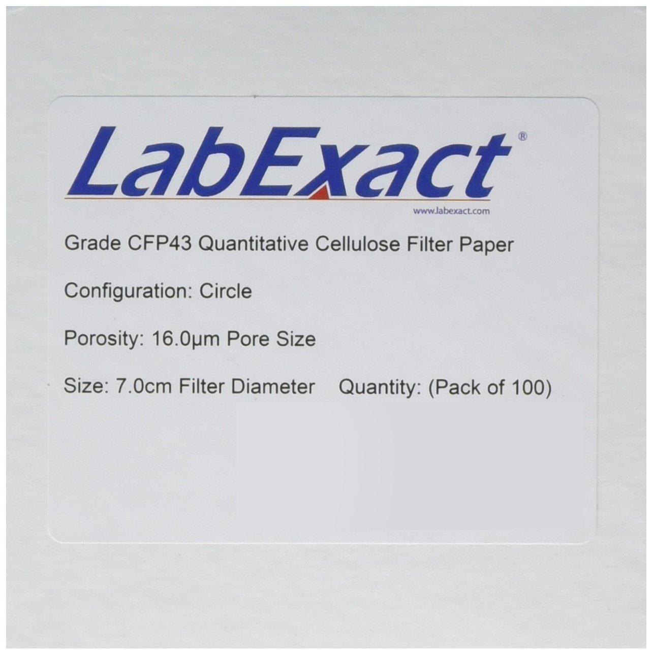 LabExact SALENEW very popular! 1200265 Oakland Mall Grade CFP43 Paper Quantitative Cellulose Filter