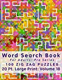 Word Search Book For Adults: Pro Series, 100 Zig Zag Puzzles, 20 Pt. Large Print, Vol. 18 (Pro Word Search Books For Adults)