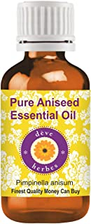 Deve Herbes Pure Aniseed Essential Oil (Pimpinella anisum) 100% Natural Therapeutic Grade Steam Distilled 30ml (1.01 oz)