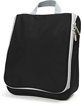 Lavievert Toiletry Bag / Portable Travel Organizer / Household Storage Pack / Bathroom Makeup or Shaving Kit with Hanging for Business, Vacation, Household - Black