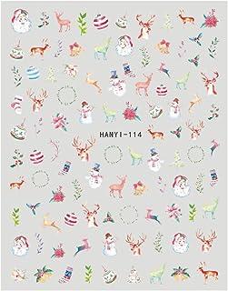 クリスマスシリーズシール 【HANYI-114】 クリスマス トナカイ オーナメント 冬ネイル サンタクロース ネイルシール