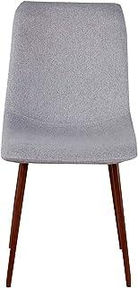 N/A Juego de 4 sillas de Cocina Comedor Skycity de Tela de Lino de Asiento Suave Retro Pata de Metal Robusta Retro - Vintage | Cocina Moderna Sala de Estar Oficina Sala de Estar (Gris)