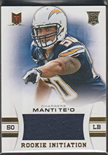 2013 Momentum Manti Te'O Chargers 354/399 Rookie Jersey Football Card #61