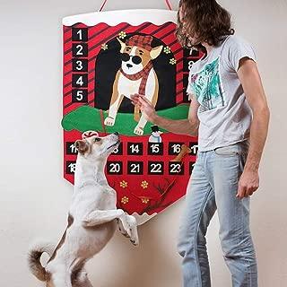 O-heart Dog Advent Calendar for kids 2019, Xmas Advent Calendar with Pockets 24 Days Countdown to Christmas Wall Hanging Felt Advent Calendar for Christmas Decorations