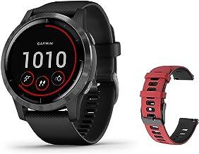 جدیدترین ساعت هوشمند Garmin vívoactive 4 GPS ، سبک وزن ، ضد آب ، موسیقی بدون تلفن ، برنامه های ورزشی داخلی ، اعلان های هوشمند ، پیشگیری از خواب ، مارک سیلیکون Ghost Manta