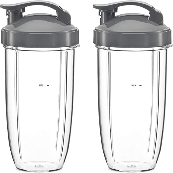 NutriBullet Flip Top To Go Lid with 32oz Tall Cup