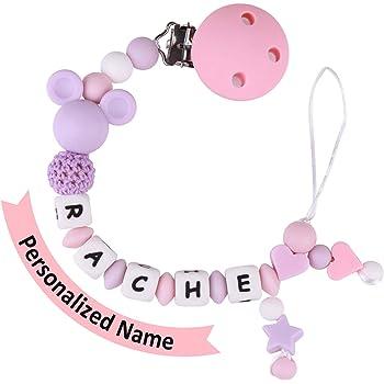2 Pack Attache Sucette pour Bebe,Jouet pour Dentition et Attache T/étine pour Gar/çon et Fille Pink