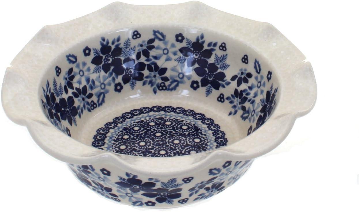 Blue Rose Polish Pottery Elizabeth Serving Small Dish Reservation Scallop Austin Mall