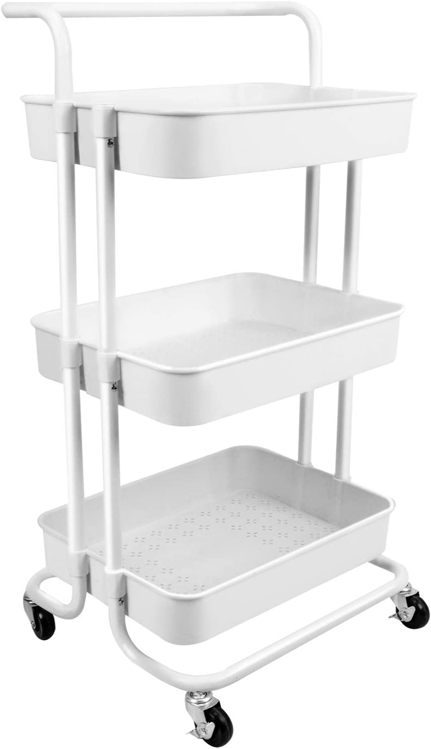 Voilamart 3 Tier Bathroom Animer and price revision Organizers Colorado Springs Mall Cart Utility Slim Rolling