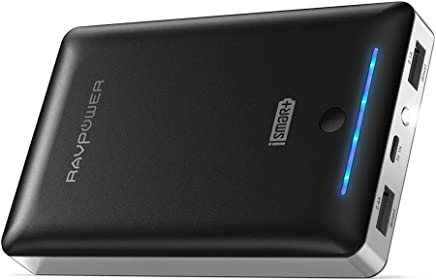 RAVPower External Battery Pack 16750mAh Portable Charger, Time-Tested Phone Charger with Dual 2.0 USB Ports/Flashlight, 4.5A Max Output Cell Phone Battery Power Pack for iPhone/Android Devices