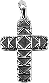 Sterling Silver 42mm Frontier Cross Pendant 30P New