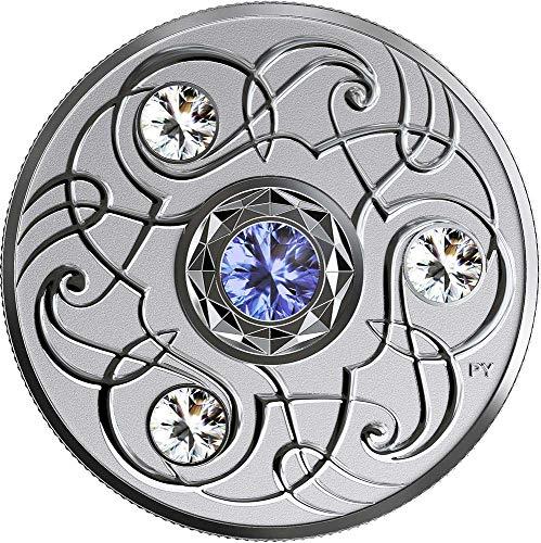 Power Coin September Septiembre Birthstone Swarovski Crystal Moneda Plata 5$ Canada 2020