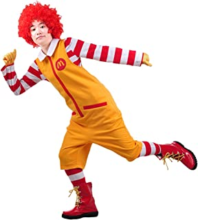 Ronald McDonald Cosplay Costume Outfit Suit for Hallowween