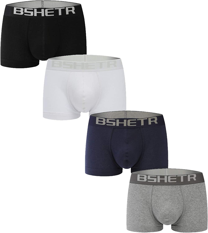 Underwear for Men Boxer Briefs Pouch Regular Leg Sweat Proof Moisture Wicking Underpants Shorts