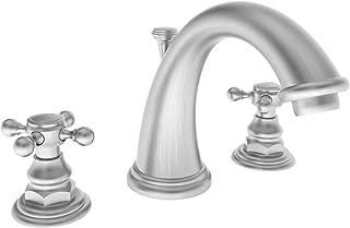Newport Brass 890 Double Handle Widespread Bathroom Faucet with Metal Cross Hand, Satin Nickel