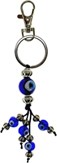 Bravo Team Lucky Evil Eye Cluster Keychain Ring, Handbag Charm for Good Luck and Blessing, with Carabiner Lock, Great Gift