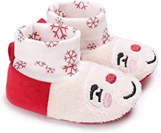 Christmas Merry Wishes Cute Cartoon Christmas Baby Shoes Soft Outsole Boots Winter Toddlers عيد ميلاد سعيد التمنيات