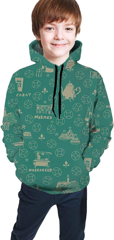 LINCHENC Boys Girls Hoodie, Pattern Unisex 3D Printing Teenager Sweatshirt Kids Children's Sweater for Age 7-20