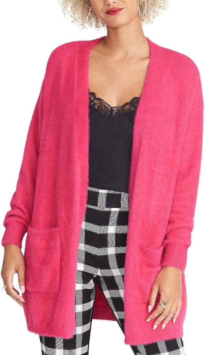 RACHEL Rachel Roy Women's Fuzzy Cardigan Sweater