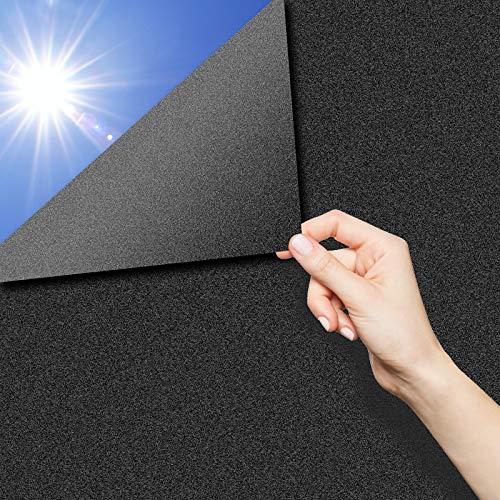 QXMCOV Pellicola Specchio Oscurante per Vetri Finestre Autoadesiva per Privacy, Pellicola Riflettente Finestre Anti UV, Adatto per Casa Soggiorno Camera da Letto Ufficio (Nero, 60x200 cm)