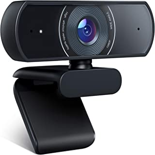Crosstour Webcam, 1080P Full HD Webcam Web Camera Video Camera for Computers PC Laptop Desktop, USB Plug and Play, Dual Bu...
