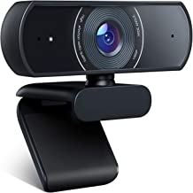 1080P Webcam, Crosstour Full HD Live Webcam Streaming Video Camera for Computers PC Laptop Desktop, Dual Built-in Microphones, Video Calling, Conference, Online Study