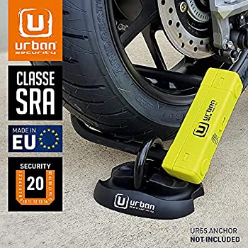 URBAN SECURITY UR120220 Cadenas Antivol Moto U Haute sécurité homologué SRA, Double Fermeture Ø 18, 120X 220, Made in EU, Gris/noir, 120x220 mm