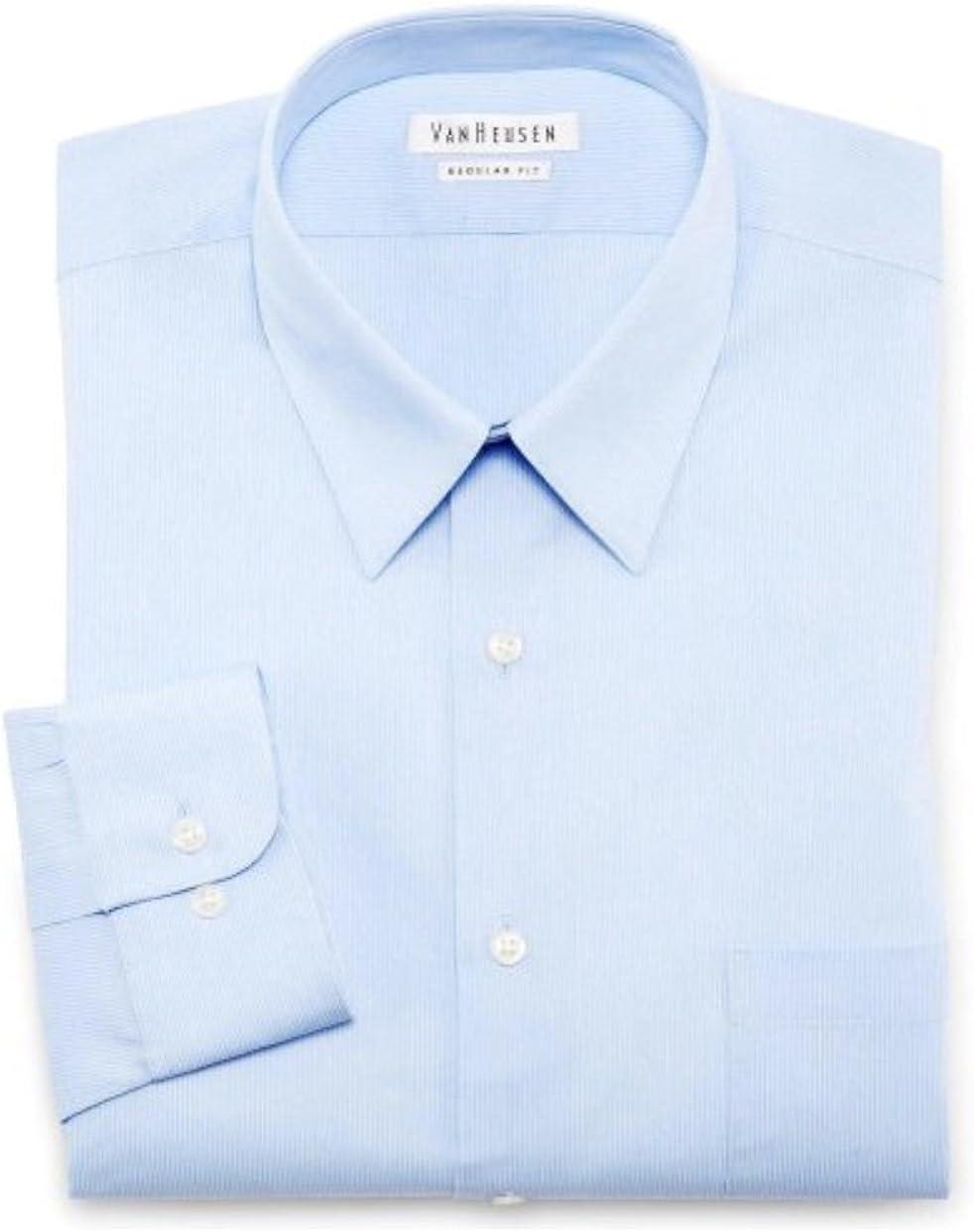 Van Heusen Regular fit Dress Shirt 15 1/2 32-33 Cornflower Blue