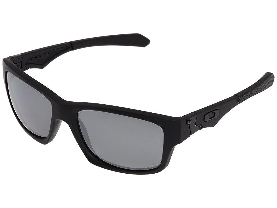 Oakley Jupiter Squared Polarized (Matte Black/Black Polar) Athletic Performance Sport Sunglasses