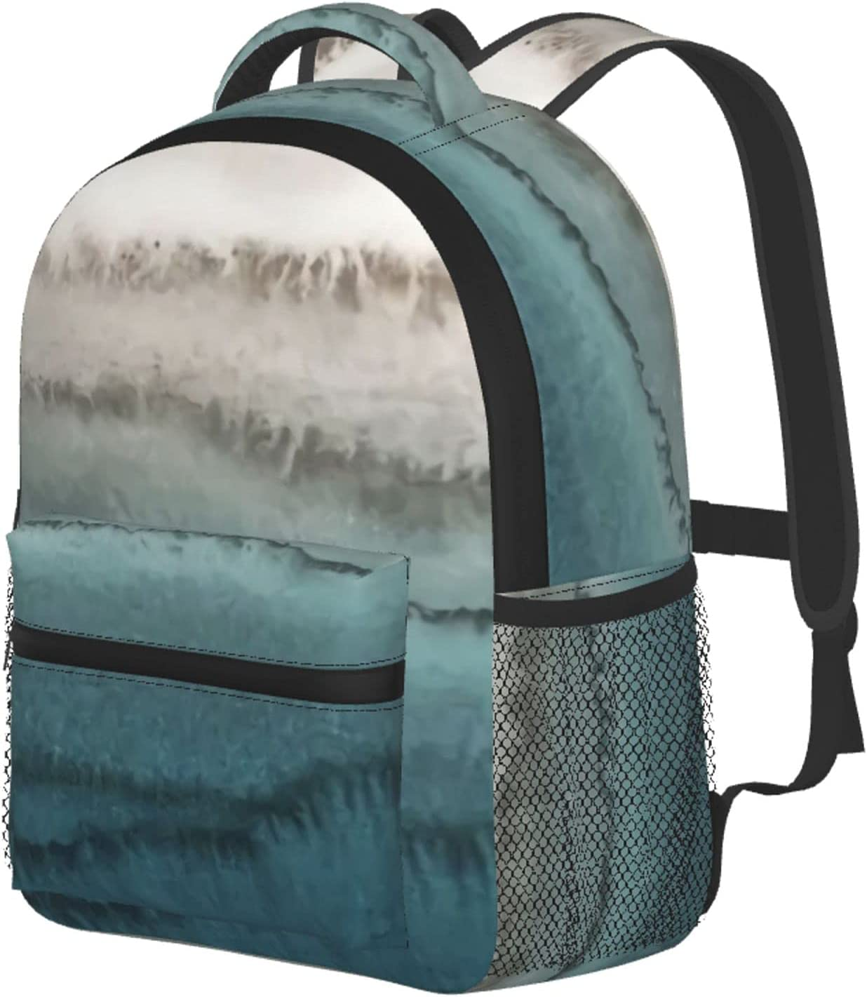 Grey Blue Limited price Mable Abstract Art Bookbag Backpack School Lightweight Charlotte Mall