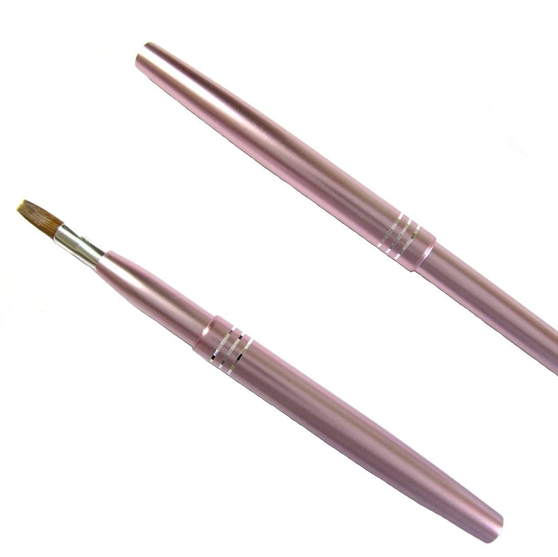 達成可能透けて見える菊携帯リップブラシ 新色パールピンク/熊野化粧筆
