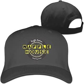 Facecho Unisex Adjustable Waffle House Hat Baseball Dad Hats Snapback Bill Trucker Cap for Women Men