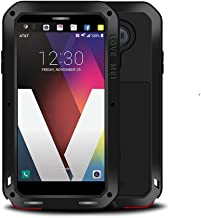 LG V20 Case,Mangix Love Mei Water Resistant Shockproof Aluminum Metal [Outter] Super Anti Shake Silicone [Inner] Fully Body Protection with Gorilla Glass Screen Protector for LG V20 (Black)