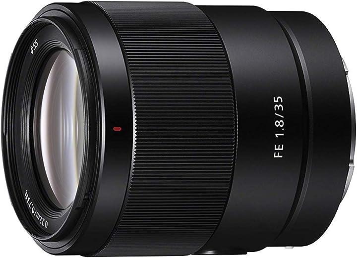 Obiettivo a focale fissa, full-frame, grandangolare (sel35f18f) sony fe 35mm f/1.8