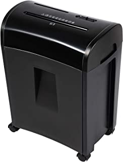 Zoomyo 10-Sheet Cross-Cut Paper, CD and Credit Card Home Office Shredder, P-4 High Security Shredders with 3.6 Gallons Was...