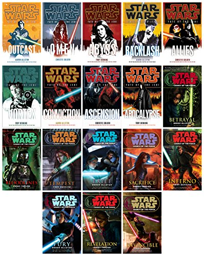 Star Wars Extended Universe Fate of the Jedi & Legacy of the Force 18 Book Set