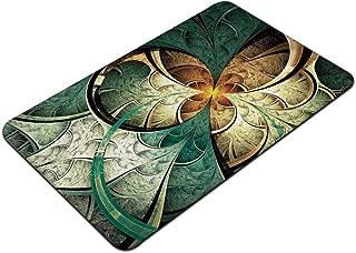 TecBillion Fractal Stylish Print Floor Mat,Computer Art Featured Surreal Flowers Motif Dreamy Imaginary Creative Concept for Home Office,29″ L x 17″ W