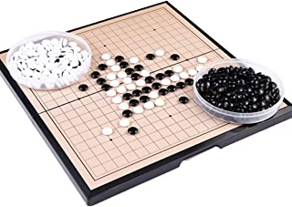 Coxeer Go Board Game Toy Magnetic Go Chess Game Toy Go Game Set Board for Home