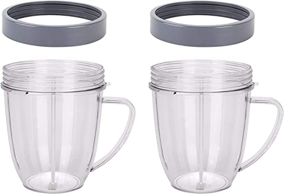 NutriBullet Replacement for Nutribullet Cups 18oz with Comfort Handel and Screw off Lip Ring