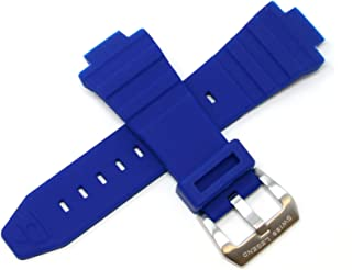 30MM Deep Blue Silicone Watch Strap w/Silver Stainless Buckle fits 46mm Expedition Watch