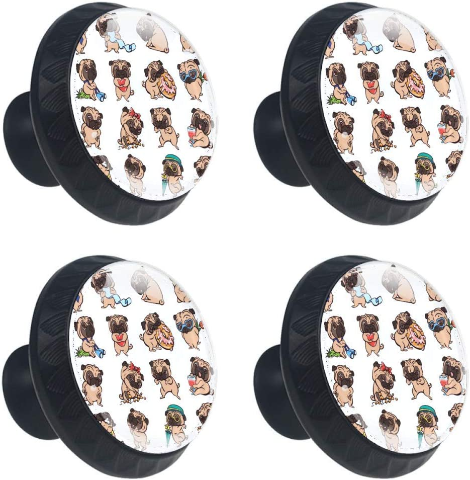 Shiiny Cartoon Pug List price Icons Drawer Knob Pull OFFicial Cabinet Handle