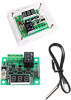 Prettyia W1209 50-110 Deg 12V Digital Thermostat Controller Module W/Acrylic Housing