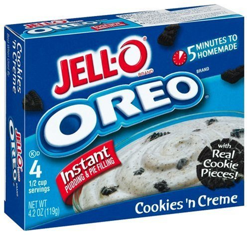 2x Jell-O Instant Pudding & Pie Filling, Oreo Cookies 'n Cream aus den USA