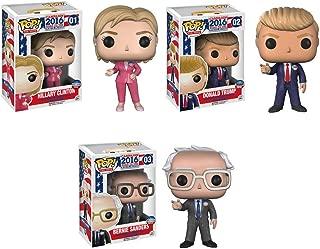 Donald Trump, Hillary Clinton, Bernie Sanders Pop! Vinyl Figures Set of 3