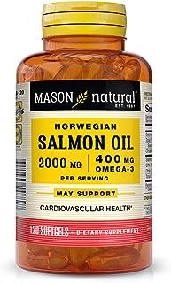 Mason Natural Salmon Oil Omega-3 1000mg, 120 Softgels, 3 Count