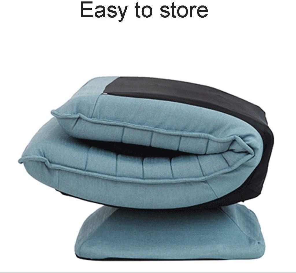 HSRG Storage Lazy Canapé Salon Élégant Canapé/Chaise Tatami Créatif Sofa360 Individuel ° Chaise Pivotante Lavable Pliant Chaise Réglable pour Enfant Adulte,Red Blue