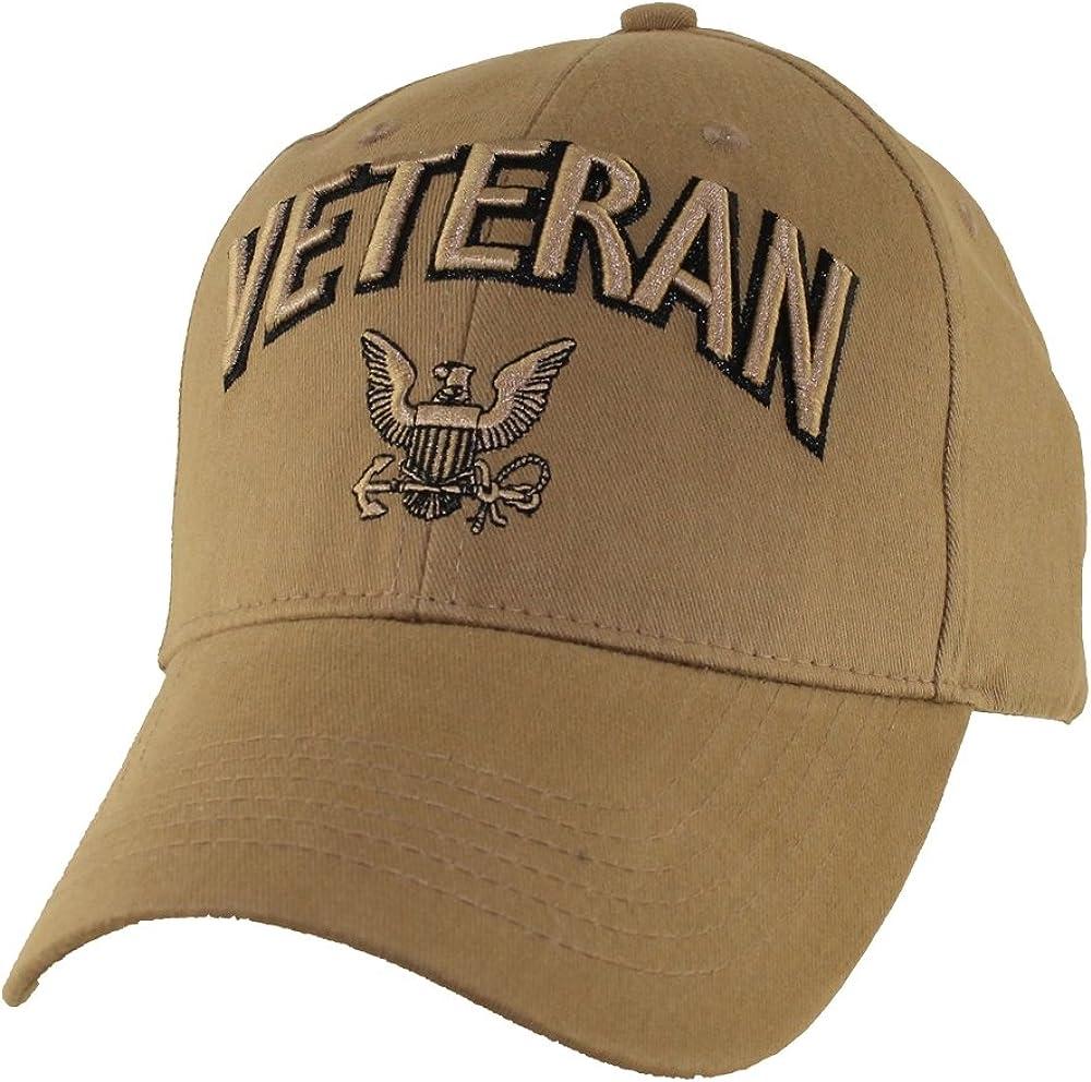 EAGLE CREST U.S. Navy Veteran Baseball Hat, Coyote Brown