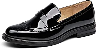 Women's Genuine Leather Penny Loafers Driving Moccasins Slip-On Flats Shoes